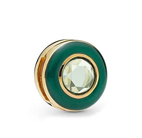 Charms Pandora Da Donna Argento Sterling 925 Beads Gioielli Con Clip Cerchio Verde Riflesso Compatibile Con Braccialetti E Collane