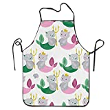 HTETRERW Lederhosen Apron Cat with Stripe Apron for Baking Crafting Gardening Cooking Durable Easy Cleaning Creative Bib for Man and Woman Standar Size