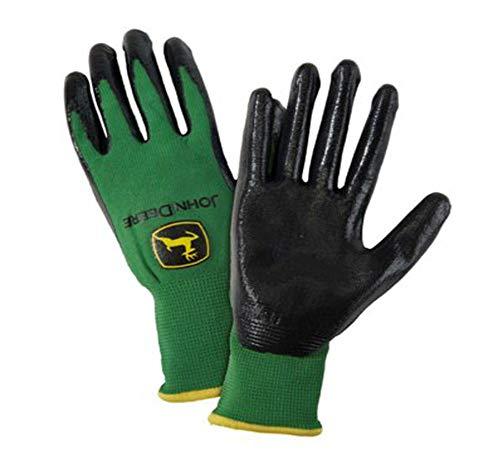 John Deere Mens Nitrile Coated Grip Glove- Large
