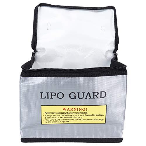 Gedourain Bolsa de batería, Material de PVC Bolsa Protectora de batería a Prueba de explosiones Dureza con Cierre de Gancho y Bucle para Transportar baterías LIPO
