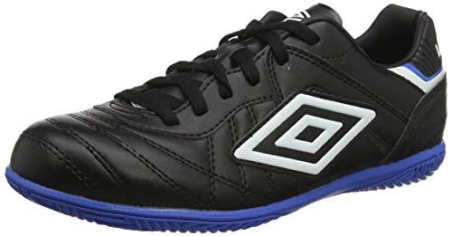 UMBRO Speciali Eternal Club, Chaussures de Futsal Homme, Noir (Black/White/Electric Blue BS0), 45 2/3 EU