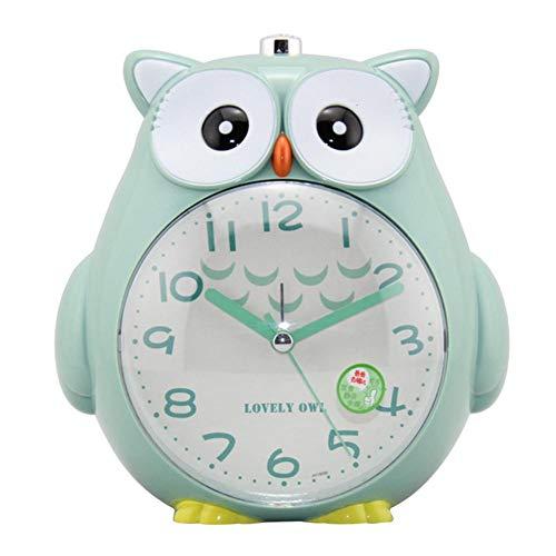 Kinder Wecker, Eule Dekorative Uhr Mit Nachtlicht Und Snooze, ABS Kunststoff Cartoon Doppel Wecker Für Kinder, Jugendliche, Student Schlafzimmer