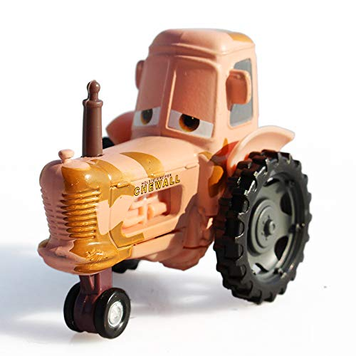 Movie Cars Basic Characters Lightning McQueen The King Chick Hicks Metal Toy Car 1:55 Loose Kid Toys (Tractor)