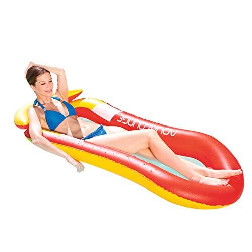 Nogan 2018 Hamaca con Red de Agua sillón para piscinabalsa Inflable Piscina Aire luz Silla Flotante Plegable pequeña portátil tapete para Piscina Adecuado para Adultos y Beneficial