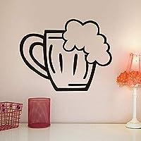 sanzangtang Vidrio de Cerveza Etiqueta de la Pared Etiqueta de Vinilo Restaurante Creativo Interior Arte Mural decoración del hogar Cartel de la Pared Cocina 44x34 cm