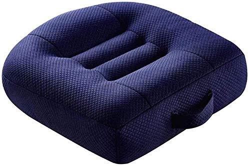 BESTPRVA Adulti Booster Seggiolino for auto Car Seat Cushion adulti innalzamento rilievo del ripetitore portatile traspirante Cuscini (Color : Blue)