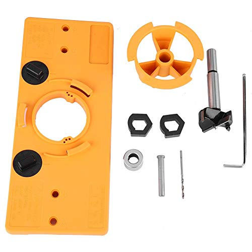 Hinge Boring-1Set 35MM Cup Style Hinge Boring Jig Drill Guide Set Door Hole Template Strumento fai da te