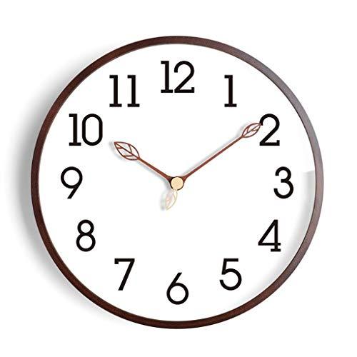 LIQIN Orologi da Parete Grafici Orologio da Parete Creativa Moderna Parete del Soggiorno casa Ikea Orologi Semplice Art Clock Solido di personalità di Legno Muto (Color : Brown, Size : 16 Inches)