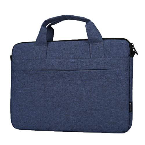 LaoZan Bandolera para Portátil Maletín para Laptop Hasta Bolsa del Hombro Bolsa de Computadora para Viajes Negocios (Azul Oscuro#2,15.6)