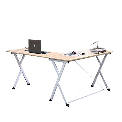 SogesHome Escritorio en forma de L para ordenador de gran tamaño para el hogar y la oficina, WK-ZJ1-MO-SH
