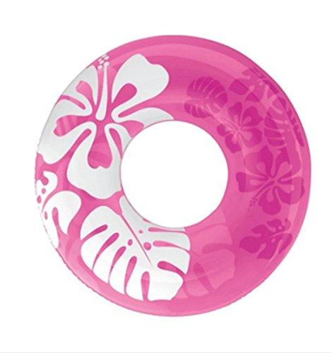 KM-Storage Bag 90cm Couleur Claire Flotteurs Gonflable Donut Bouée d'été Piscine Jouets Eau gonflables Flotteurs Jouets de Natation Float pour Adultes, Rose