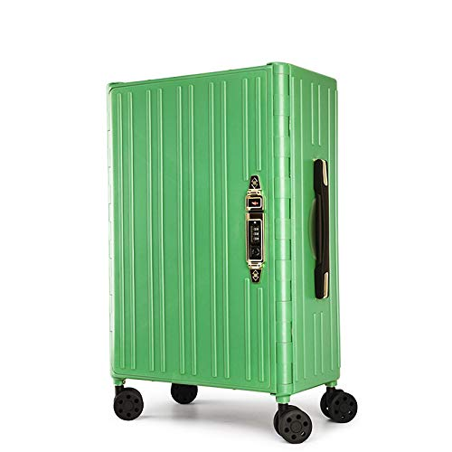 Foldable Trolley Suitcase, Four Colors, Save Space (Color : Green)