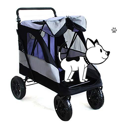 LOVEPET Großer Haustierreisekinderwagen, Großer Hundewagen-Trolley Faltbar Weltraum 55 KG Für Den Ausgehenden Gebrauch