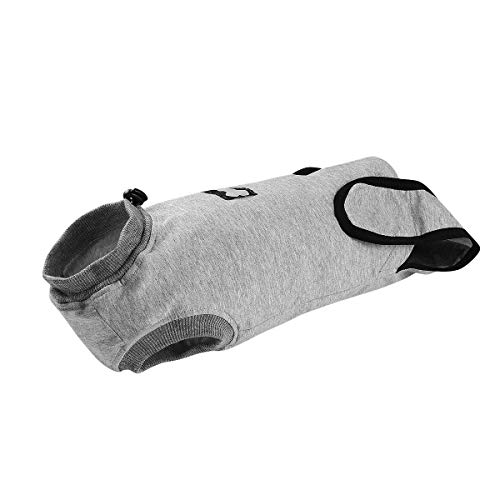 POPETPOP Bodysuit für Katzen Nach Op Sterilisation Entwöhnung Anti-leckende Kleidung Baumwolle Gemütliche Kleidung Nach dem Eingriff Kleidung für Katzen Hunde
