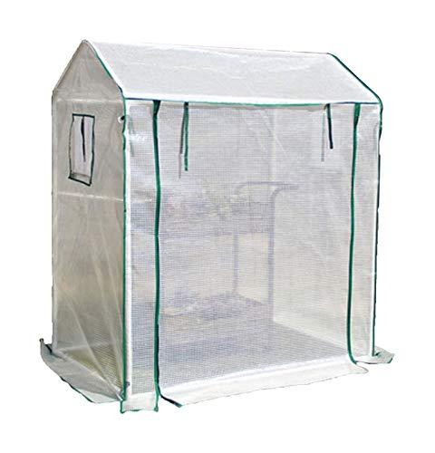 ETNLT-FCZ Begehbares Patio-Gewächshaus Tomatengarten Growhouse/Gewächshaus Mit Verstärkter Abdeckung Und Rahmen Regen Und Wind (Color : White, Size : 130x90x150cm)