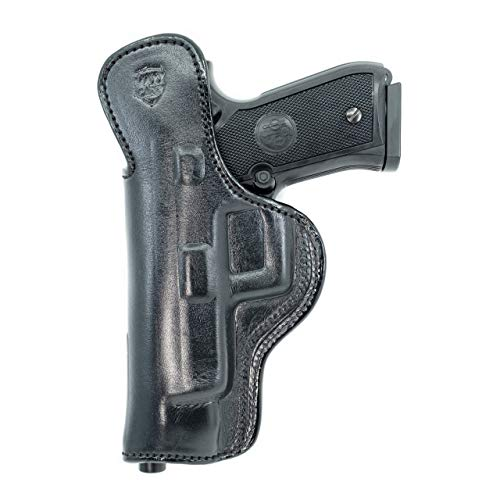 Maxx Carry IWB Leather Gun Holster Compatible with Glock G34 9mm   Beretta 92 F, 92 FS, 92 A1, M9 A1, 96 A1, 96 FS   Springfiel XDM 4.5 and 5.25 inch   Taurus 92, Black, Right Hand Draw