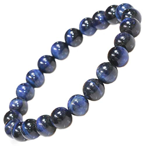 ネイビーブルー タイガーアイ ブルー ネイビー 8mm 0,8cm【タイガーアイ】【虎目石】【水晶】ブレスレット 数珠 【パワーストーン】【天然石ブレス】【風水グッズ 】【開運アイテム】【お守り】