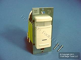 Leviton Almond Manual-ON Motion Sensor Occupancy Switch 800W 1200VA 900 sq ft IPP10-1LA