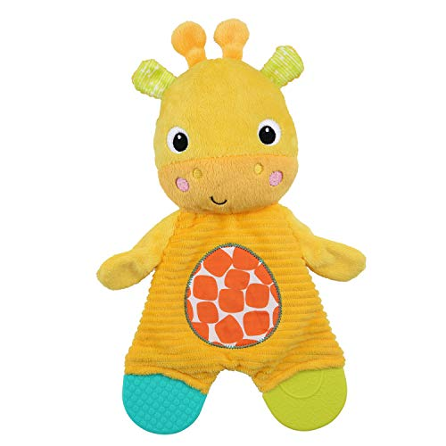 Bright Starts Snuggle Teethe Plush Teething Baby Toy - Giraffe, Crinkle Fabric, Ages 0 Months
