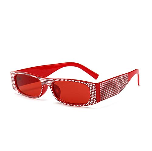 ZZZXX Gafas De Sol De EspejoGafas De Sol De Moda De Diamantes De Imitación Gafas De Sol Hd Antireflectantes Para Hombre Y Mujer,Con Caja De Regalo Y Paño Para Vasos