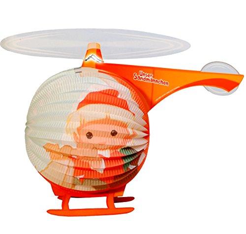 alles-meine.de GmbH 1 Stück _ 3-D Effekt _ Papier Laterne / Lampion -  unser Sandmännchen - Helikopter  - für Kinder - Papierlaterne - Lampe - Laternen Lampions - für Kerze & S..