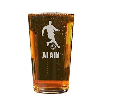 Verre à bière personnalisé - Contenance 57 cl - Soirée Foot - Cadeau anniversaire