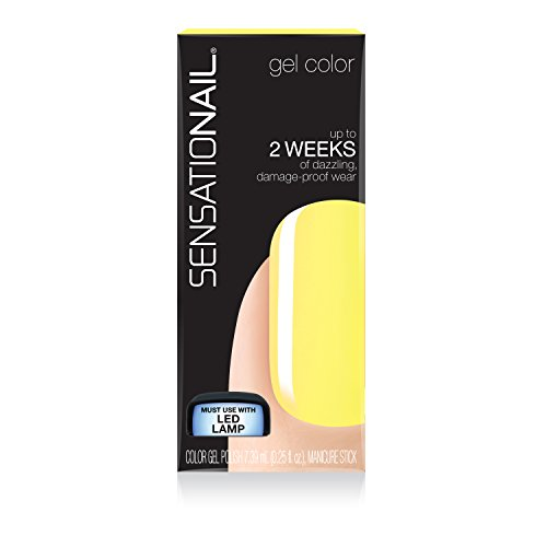 Sensationail Gel Nail Polish, Dizzy Daisy, 7.39ml, Pastel Yellow, At-Home Gel Polish 73034
