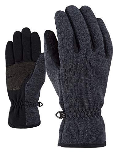 Ziener Erwachsene IMAGIO glove multisport Freizeit- / Funktions- / Outdoor-Handschuhe | atmungsaktiv, gestrickt, schwarz (black melange), 9