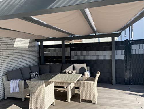 Seilspannmarkise Terrassen Beschattung Terrassenüberdachung Wintergartenbeschattung nach Maß
