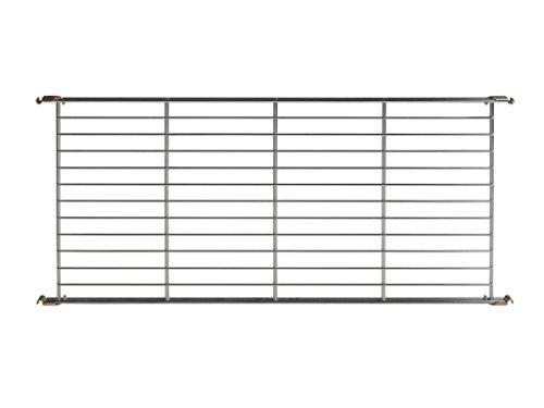 Balton Gitterboden BIII mit 4 Beschlägen für Regal Systeme, Metall, Chrom, 85 x 38 x 2 cm
