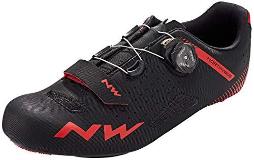 NORTHWAVE Sapatos EST NW Core Plus, Zapatillas Unisex Adulto, Black/Red, 41 EU