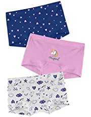 Real Basics Girls Cotton Boxer/Underpant/Bloomer/Boyshort /Underwear -Pack of 3 (Multicolour)