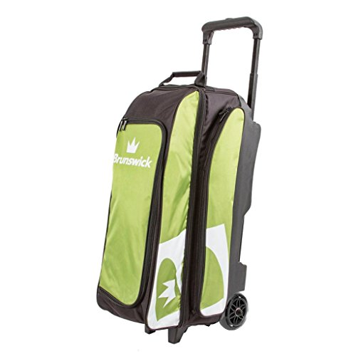 Brunswick Blitz Triple Roller Bowling Bag, Lime