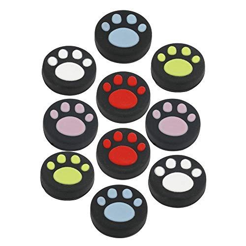 10PCS Silikon Analog Joystick Daumen Stick Griff Gap für Nintendo Schalter NS joy-con Controller (Cute Cat Paw Claw & # xff09;