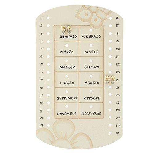 THUN ® - Calendario pepetuo da Parete - Ceramica - Linea Elegance