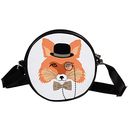 Bandolera Redonda Bolso Pequeño Bolso De Las Señoras De Moda Bolsos De Hombro Bolso De Mensajero Bolsa De Lona Bolsa De Cintura Accesorios Para Mujeres - Caballeros Fox Head