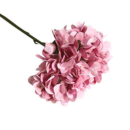 Cerlemi Wohnaccessoires & Deko Kunstblumen Künstliche Hortensien Blumensämlinge Blumen Taschentücher Weben Weben große Blumen Hortensien Topfpflanzen Blumen Sträucher