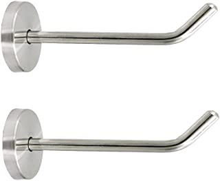 NELXULAS Brushed Stainless Steel Single Heavy Duty Long Nose Wall Mount Hook, Fit for Kitchen,Bedroom,Living Room, Bathroom,Closets,Set of 2 in Pack (2)