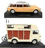 OPO 10 - Lote de 2 Coches compatibles con Citroen ID 19 Break + Type H Van Heuliez Hy / Hachette Collection 1/24 (CIT02 + 03)