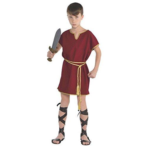 amscan Disfraz de gladiador de túnica romana de Gods and Goddesses, de 8 a 10 años