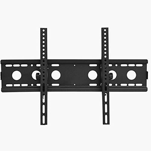 Soporte de pared para TV independiente de acero inoxidable para la mayoría de los televisores planos curvos de 32 a 65 pulgadas, soporte para gabinete de pared para TV de hasta 50 kg de altura inclina