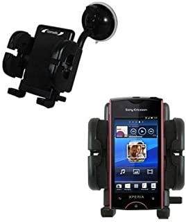 Gomadic Brand Flexible Car Auto Windshield Holder Mount Designed for The Sony Ericsson Xperia ray - Gooseneck Suction Cup Style Cradle