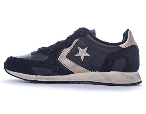Converse Unisex Cons Auckland Racer Shoes (5 Men/Women 7, Black/Gold)