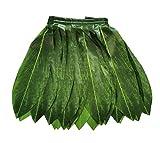 LITTLE FEATHER Hawaiian Ti Leaf Hula Green Skirt Luau Party Accessory (adult)