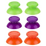 YoRHa3 xPairReplacementOriginalMaterialThumbstickAnalogButtonsCustomColourfulforDualShock4PS4/Slim/PROControllerSparePartsAccessoriesModded(Green+Orange+Purple)