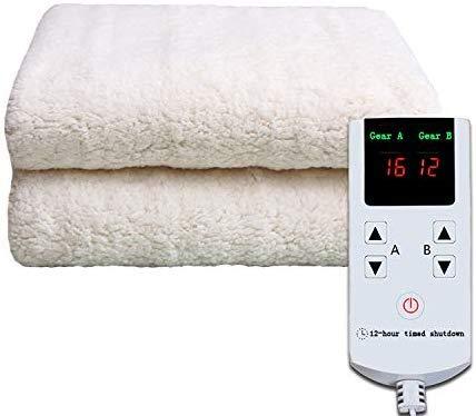 Mirage Warm vloerkleed met dubbele regeling voor warm water en koud, met automatische shut-off timer, 180 x 150 cm, 200 V, 50 Hz, wit