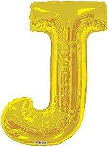 34 inch Letter J - Gold