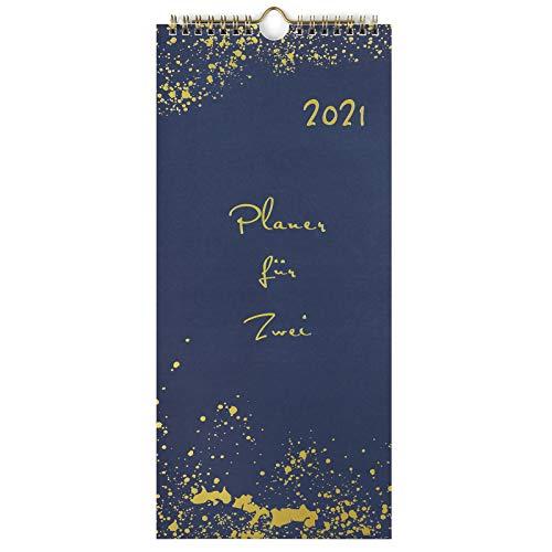 KOHMUI Planer für Zwei 2021 zum Selbstgestalten, Du + Ich Paarkalender 2021 mit 3 Spalten, Wandkalender für Paare, Kalender für 2, Partnerkalender zum Aufhängen, Geschenkidee für Freundin oder Freund