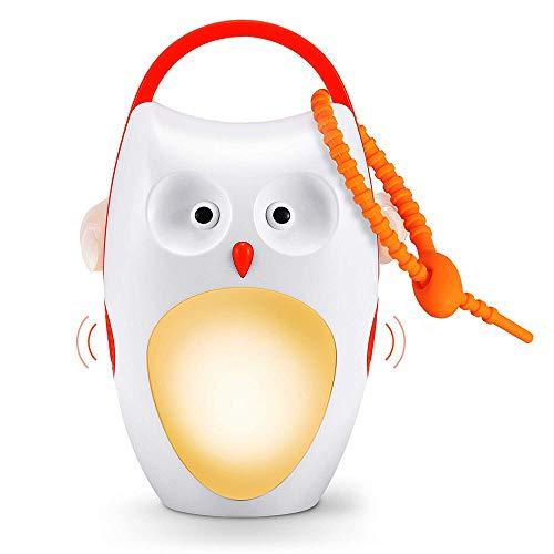SOAIY (Versione aggiornata USB) Luce notturna bambini a Gufo Ricaricabile Luce neonato Sleep Soother Macchina di suoni bianchi 8 SUONI RILASSANTI 3 TIMER SISTEMA per regalo neotato e bambini