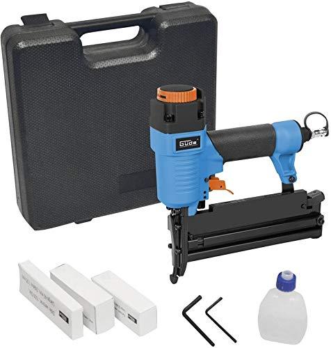 Güde Druckluft Nagler und Tacker 2in1, Nägel 10-50mm und Klammern 10-40mm, Standard 1/4